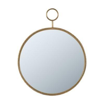Time Piece Iron Frame Wall Mirror, 72cm