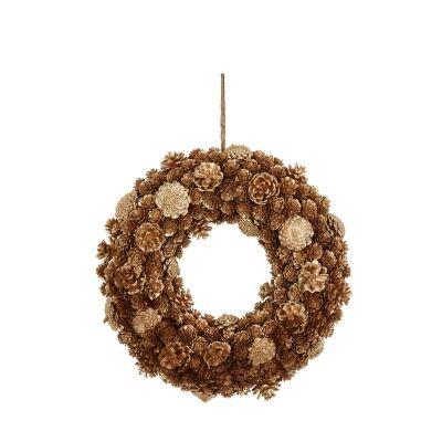 Twinkle Pinecone Wreath, 39cm