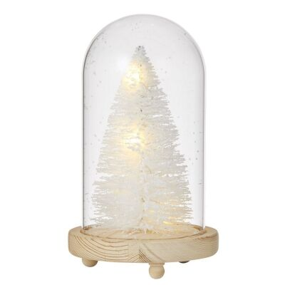 Marie LED White Tree Cloche, Small