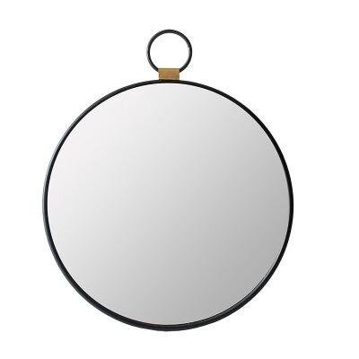 Dallas Iron Frame Round Pendant Wall Mirror, 50cm