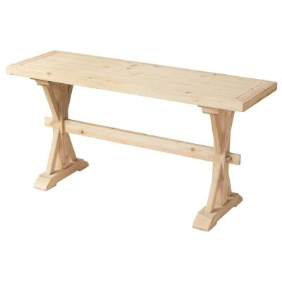 Brotchie Fir Timber Trestle Console Table, 150cm