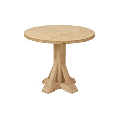 Brotchie Fir Timber Round Dining Table, 90cm