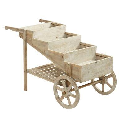 Nixon Wooden Flower Cart