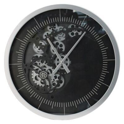 Moso Iron Frame Round Skeleton Wall Clock, 58cm