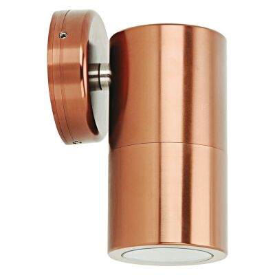 Shadow IP65 Exterior Down Only Wall Light, Copper