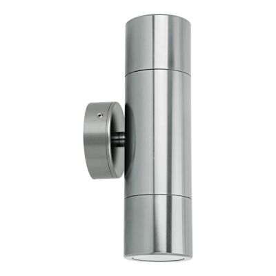 Shadow IP65 Exterior Up / Down Wall Light, Titanium Silver