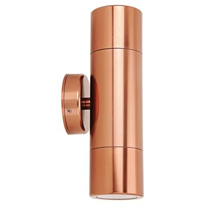 Shadow IP65 Exterior Up / Down Wall Light, Copper