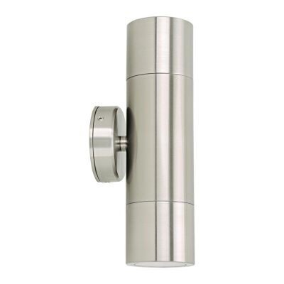 Shadow IP65 Exterior Up / Down Wall Light, Stainless Steel