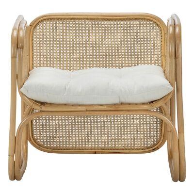 Lexie Rattan Lounge Armchair, Natural