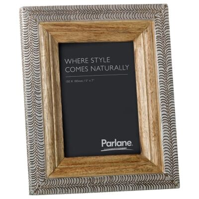 Muncie Mango Wood & Metal Photo Frame, 5x7""