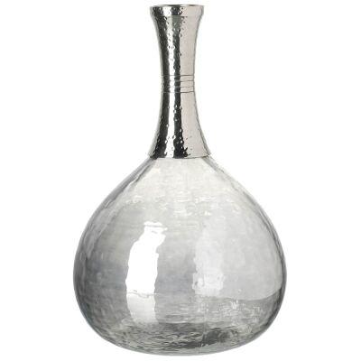 Emiko Handcrafted Aluminium & Glass Vase