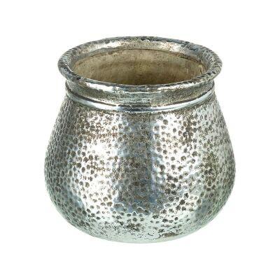 Vivonne Metallic Ceramic Vase, Small