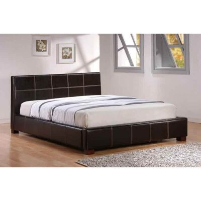 Quakers Bicast Leather Bed, Queen, Brown