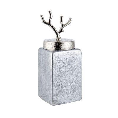 Laura Glass Jar with Lid, Medium