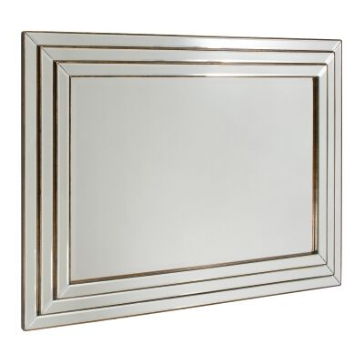 Chimy Wooden Frame Wall Mirror, 118cm, Bronze