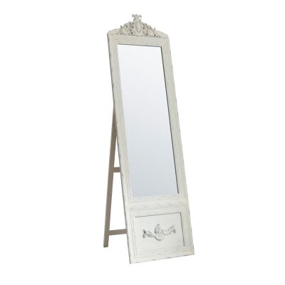 Bethany Vintage ChElenal Mirror, 192cm, Distressed Cream