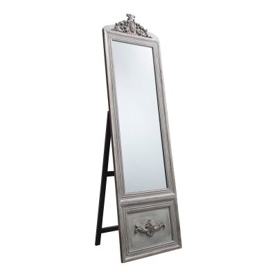 Bethany Vintage ChElenal Mirror, 192cm, Distressed Silver