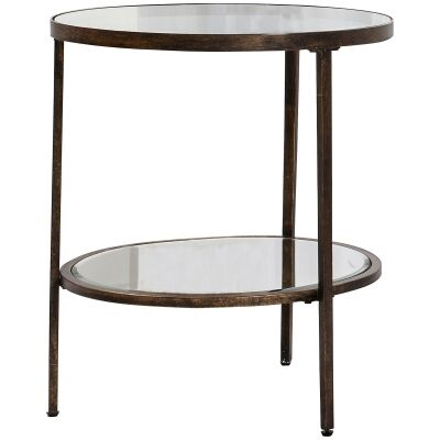 Howard Glass & Metal Side Table
