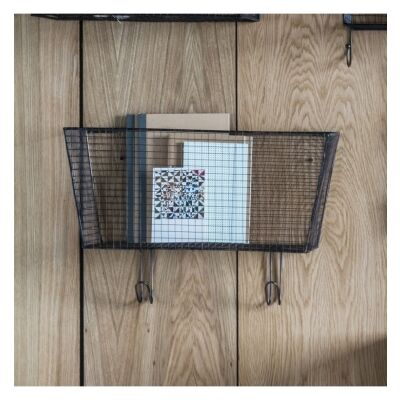 Oallen Metal Wire Wall Basket with Hooks