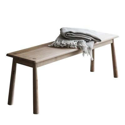 Wycombe Oak Timber Dining Bench, 130cm