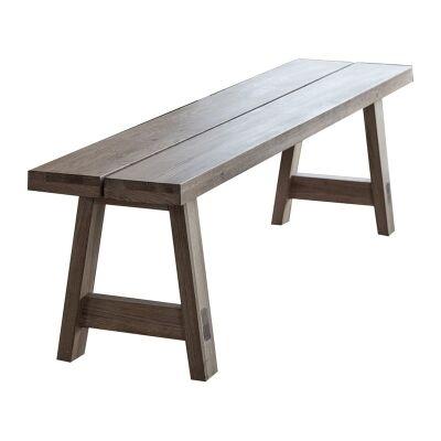 Kielder Oak Timber Dining Bench, 160cm