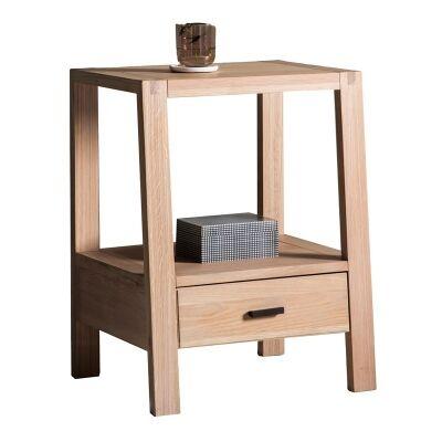 Esme Oak Timber Bedside Table