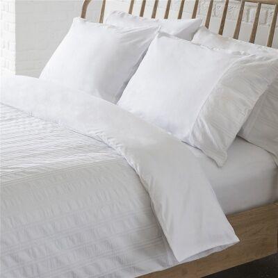 Britta Seersucker Pure Cotton Quilt Cover Set, King Size