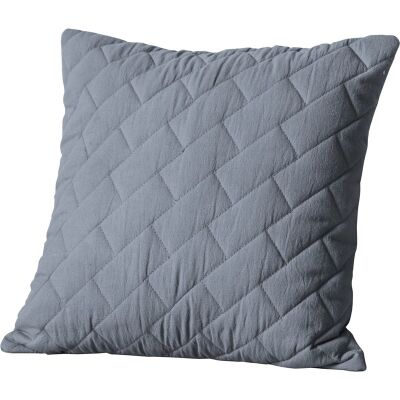 Becky Quilted Cotton Scatter Cushion, Grey