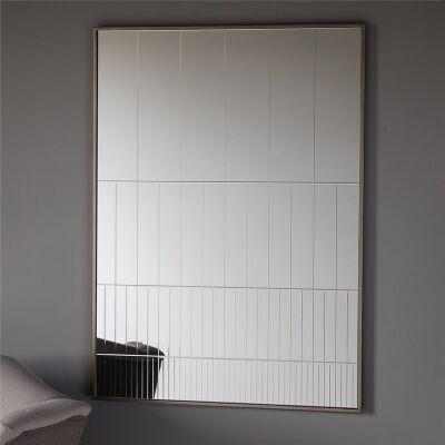 Strepen Groove Cut Wall Mirror, 106cm