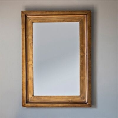 Milly Metal Frame Rectangle Wall Mirror, 107cm