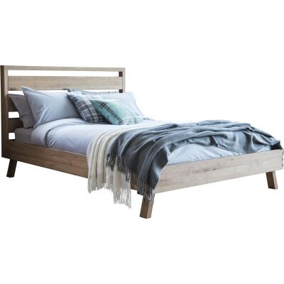 Esme Oak Timber Bed, Queen Size
