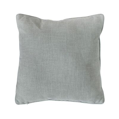 Textured Piped Scatter Cushion, Duck Egg Blue