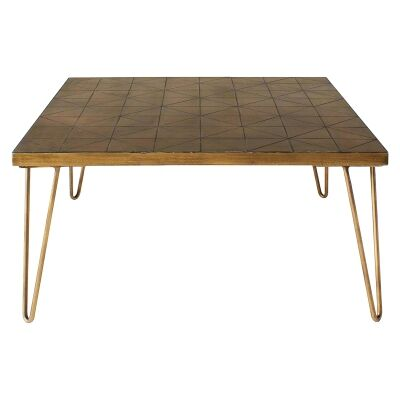 Pompeii Ceramic Tile Top Square Coffee Table, 80cm