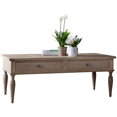 Mirren Solid Mindi Wood Coffee Table