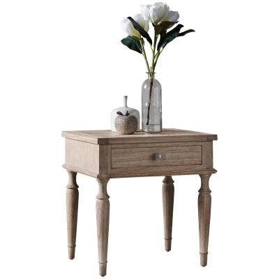 Mirren Solid Mindi Wood Side Table