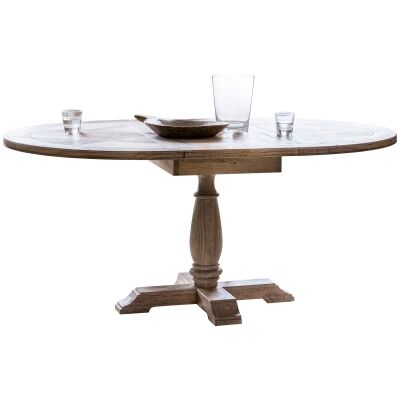 Mirren Solid Mindi Wood Round Extension Dining Table (Table Only), 120cm - 165cm