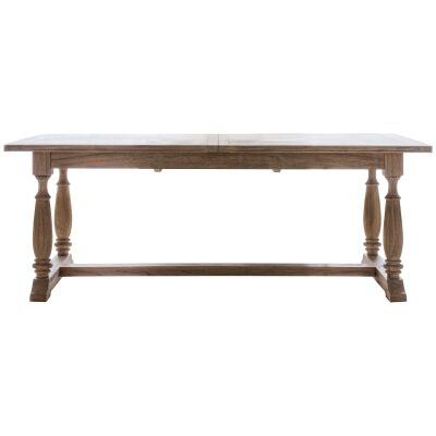 Mirren Mindi Wood Extension Dining Table, 165-250cm