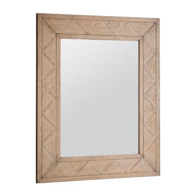 Mirren Mindi Wood Frame Wall Mirror, 110cm