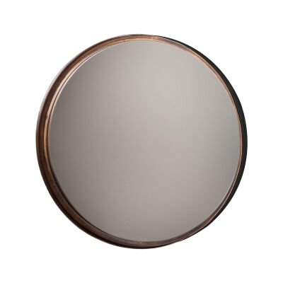 Metal Frame Round Wall Mirror, 41cm
