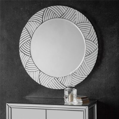 Pavillion Round Wall Mirror, 105cm