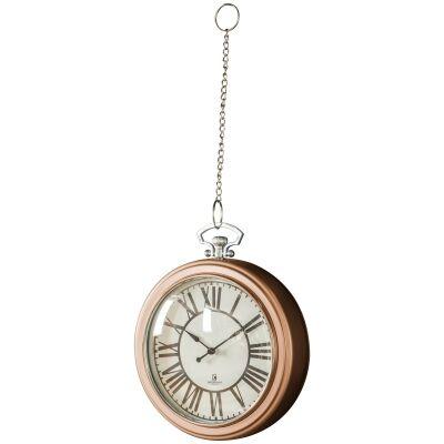 Oxford Pocket Watch Wall Clock, 24cm, Copper