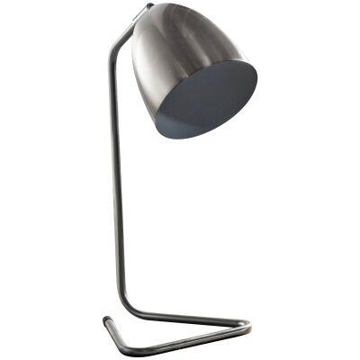 Danno Metal Table Lamp, Nickel