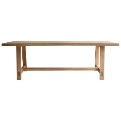 Esme Oak Timber Dining Table, 185cm