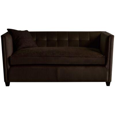 London Fabric 2 Seater Sofa, Brussels Espresso