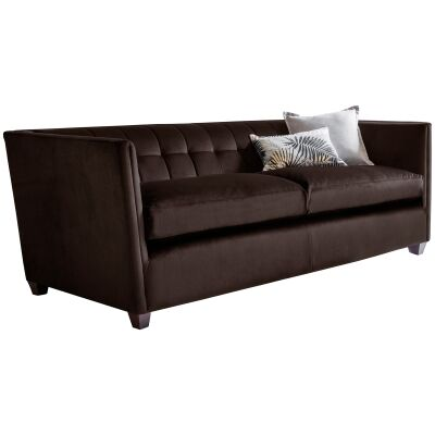 Louis Fabric 3 Seater Sofa, Brussels Espresso