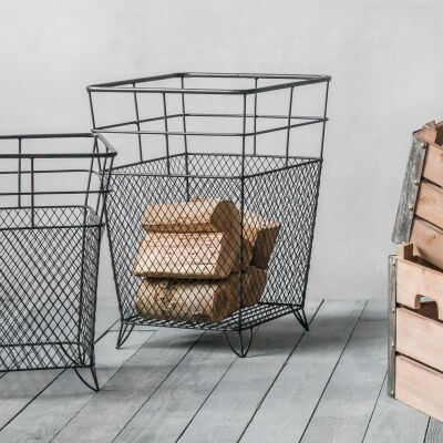 Lunde Metal Wire Storage Basket, Large