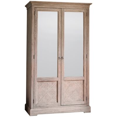 Mirren Mindy Ash Timber 2 Mirror Door Wardrobe