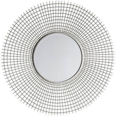 Stafford Iron Frame Round Wall Mirror, 92cm
