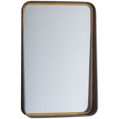 Earl Iron Frame Wall Mirror, 56cm