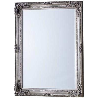 Rushden Baroque Wall Mirror, 108cm, Silver